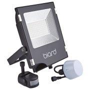 Biard Foco Proyector Plano Negro 50W con Opción entre Sensor PIR o Sensor Crepuscular