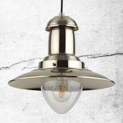 Biard Lámpara de Techo Industrial Estilo Náutico de Hierro con Acabado Cromado - Brixham