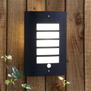 Biard Apliqué de Pared Exterior con Estructura en Acero Inoxidable Color Negro con Sensor de Movimiento - Orleans
