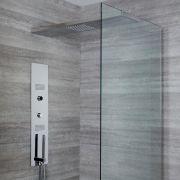 Panel de Ducha Digital Empotrable con Alcachofa de Ducha de 800mm con Soporte de Mampara de Ducha -Narus