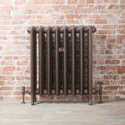 Radiador de Diseño Tradicional de 760mm de Hierro Fundido - Columnas Ovales - Color Cobre Antiguo - Erté - Disponible en Varias Medidas