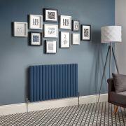 Radiador de Diseño Horizontal Doble - Azul Marino - Revive - Disponible en Distintas Medidas