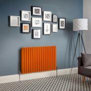 Radiador de Diseño Horizontal Doble - Naranja - Revive - Disponible en Distintas Medidas