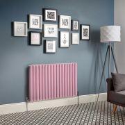 Radiador de Diseño Horizontal Doble - Rosa - Revive - Disponible en Distintas Medidas