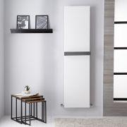 Radiador de Diseño Vertical - Panel Plano – Conexión Central – Blanco Mineral - 1800mm x 450mm - 1016 Vatios - Trevi