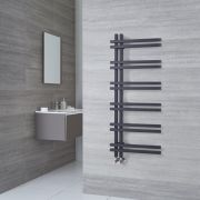 Radiador Toallero de Diseño - Aluminio - Antracita - 1200mm x 500mm - 526 Vatios - Tika