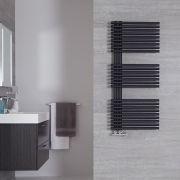 Radiador Toallero de Diseño Vertical - Color Antracita - 1120mm x 500mm - 813 Vatios - Iseo