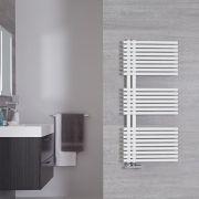 Radiador Toallero de Diseño Vertical - Color Blanco Mineral - 1120mm x 500mm - 813 Vatios - Iseo