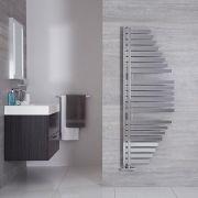 Radiador Toallero de Diseño Vertical - Cromado - 1460mm x 547mm - 511 Vatios - Lazio