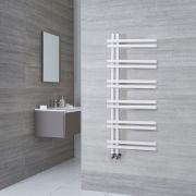 Radiador Toallero de Diseño - Aluminio - Blanco - 1200mm x 500mm - 526 Vatios - Tika