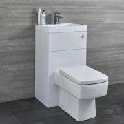 Conjunto Completo con Inodoro y Lavamanos Integrado Blanco