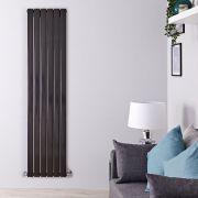 Radiador de Diseño Vertical Doble - Negro Lúcido - 1780mm x 420mm x 60mm - 1484 Vatios - Delta