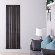 Radiador de Diseño Vertical - Negro Lúcido - 1780mm x 560mm x 47mm - 1316 Vatios - Delta