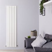 Radiador de Diseño Vertical - Blanco - 1780mm x 420mm x 60mm - 1050 Vatios - Rombo