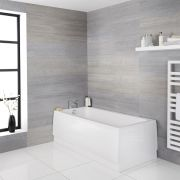Bañera Rectangular Acrílica Blanca de 1700x750mm Estilo Retro - Richmond