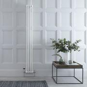 Radiador de Diseño Vertical Doble Tradicional - Blanco - 1800mm x 200mm x 68mm - 622 Vatios - Regent