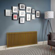 Radiador de Diseño Horizontal - Oro Metalizado - Windsor - Disponible en Distintas Medidas (Columnas Triples)