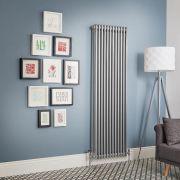 Radiador de Diseño Vertical - Plateado Metalizado - Windsor - Disponible en Distintas Medidas (Columnas Triples)