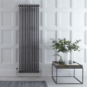 Radiador de Diseño Vertical Triple Tradicional - Acero Dulce - Lacado Metal Rudo - 1800mm x 560mm - 2338 Vatios - Regent