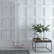 Radiador de Diseño Vertical Cuádruple Tradicional - Blanco - 1800mm x 290mm x 133mm - 1615 Vatios - Regent