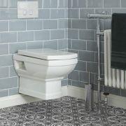 Conjunto Completo con Inodoro WC Suspendido, Estructura para Cisterna Suspendida y Placa de Descarga - Chester
