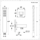 Conjunto de Ducha Color Níquel Cepillado con Mezclador de Ducha Termostático Triple de 3 Funciones con Alcachofa de Ducha de 2 Funciones Efecto Lluvia y Cascada  de 500x200mmy Telefonillo - Harting