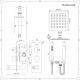 Mezclador de Ducha Empotrable de 2 Funciones con Alcachofa de 200mm con Brazo de Techo y Telefonillo - Arvo