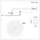 Conjunto de Ducha con Mezclador de Ducha Termostático de 3 Funciones de Color Níquel Cepillado, Alcachofa de Ducha Redonda de 200mm, Barra de Ducha Deslizante y 4 Jets - Aldwick