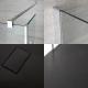 Mampara para Ducha de Obra de 1700x900mm con Pared de Ducha y Plato de Ducha de Color Antracita