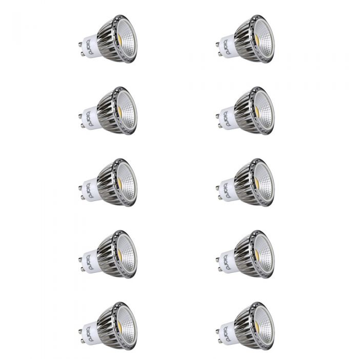 Biard 10x Focos LED COB GU10 5W Angulo de 90° Equivalente a 50W Intensidad Luminosa Regulable