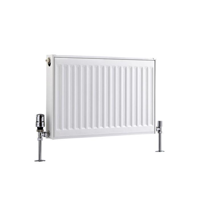 Radiador Convector Horizontal con Panel Doble Plus - Blanco - 400mm x 600mm x 73mm - 726 Vatios - Eco