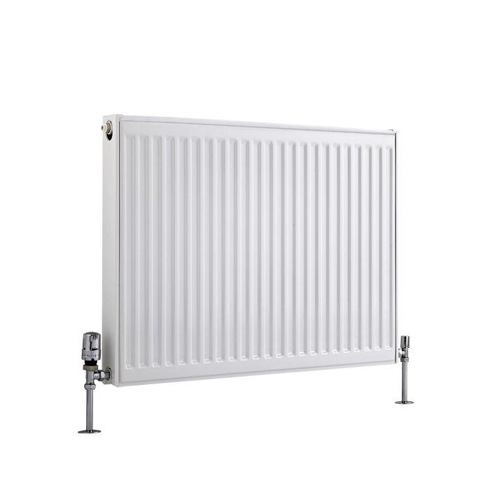 Radiador Convector Horizontal con Panel Doble Plus - Blanco - 600mm x 800mm x 73mm - 1359 Vatios - Eco