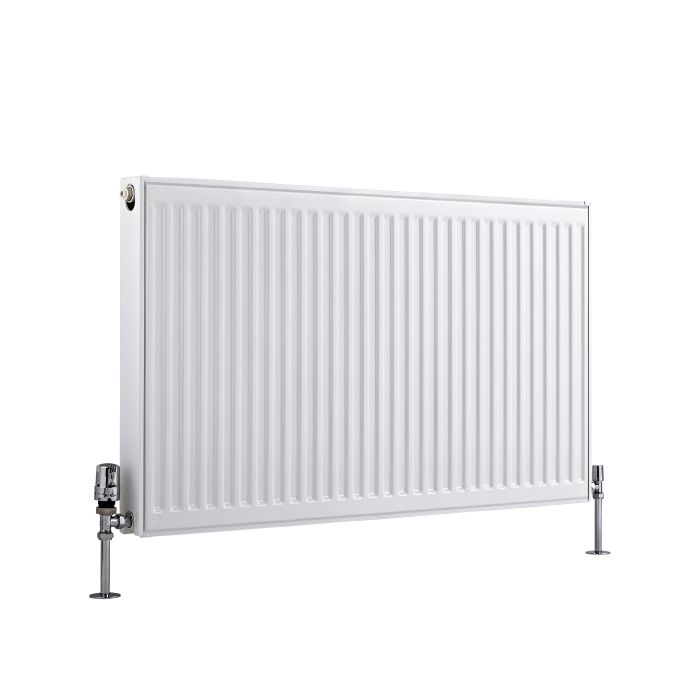 Radiador Convector Horizontal con Panel Doble Plus - Blanco - 600mm x 1000mm x 73mm - 1699 Vatios - Eco
