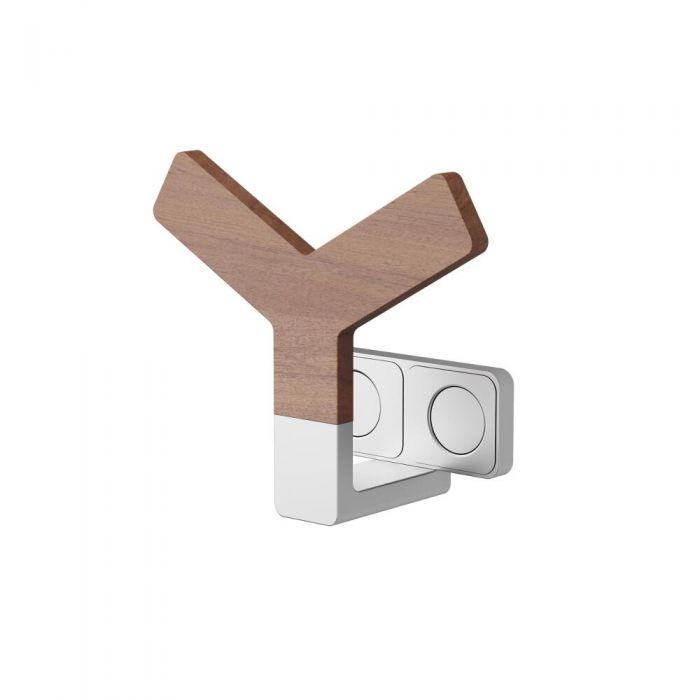 Colgador Porta Toallas y Porta Batas Efecto Madera Para Radiadores y Radiadores Toallero de Diseño -Y Wood