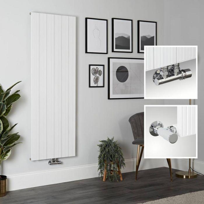 Radiador de Diseño Vertical en Aluminio de Color Blanco - 1600mm x 565mm - Lex