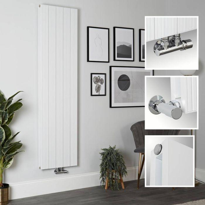 Radiador de Diseño Vertical en Aluminio de Color Blanco - 1800mm x 470mm (Panel Doble) - Lex