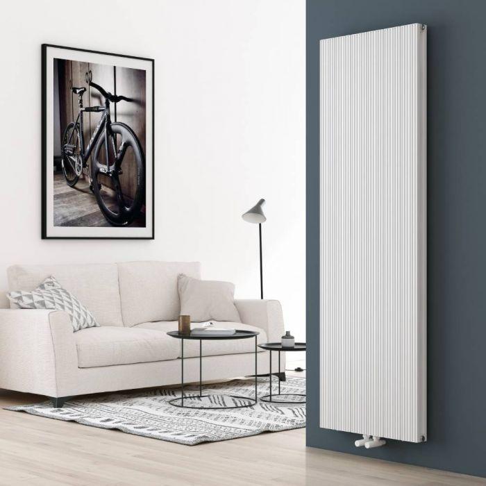 Radiador de Diseño Vertical en Aluminio de Color Blanco - 1800mm x 565mm (Panel Doble) – Lex