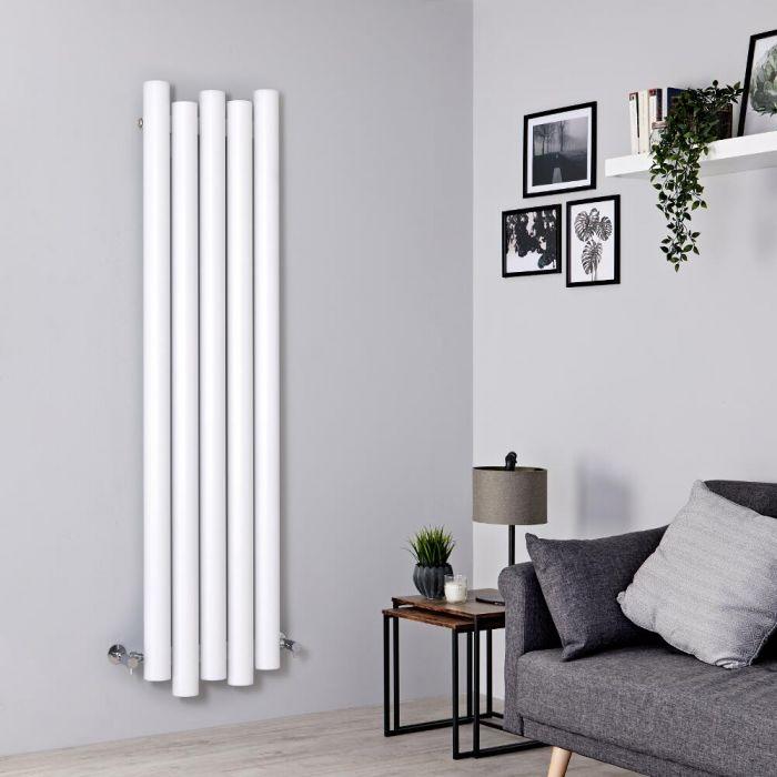 Radiador de Diseño Vertical - Aluminio - Blanco - 1600mm x 390mm - 1035 Vatios - Laeto