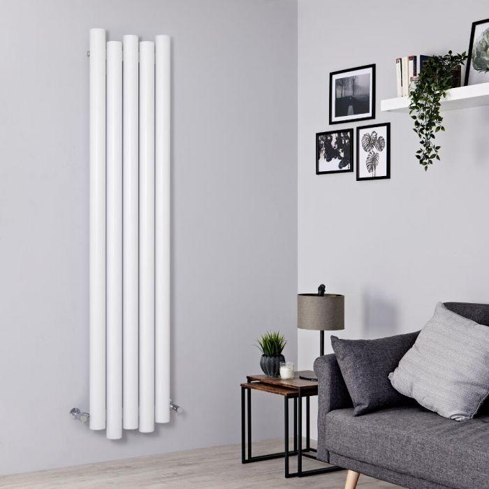Radiador de Diseño Vertical - Aluminio - Blanco - 1800mm x 390mm - 1170 Vatios - Laeto