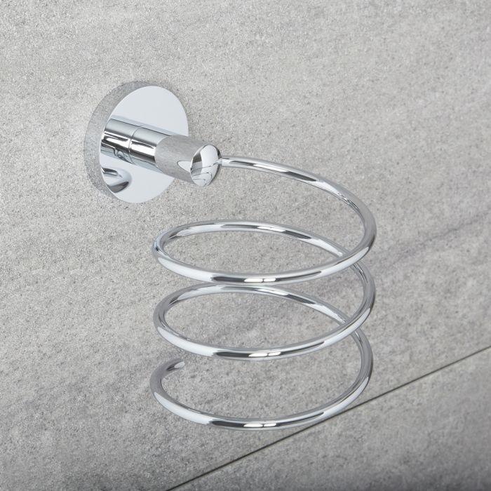 Soporte Moderno de Pared en Espiral para Secador de Pelo - Prise