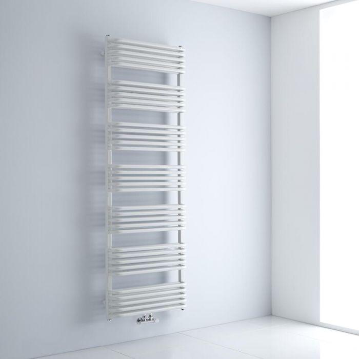 Radiador Toallero con Conexión Central - Curvo - Blanco - 1800mm x 600mm - 2010 Vatios – Arch