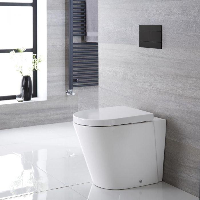 Inodoro WC Oval 460x360x565mm con Tapa de WC Soft Close -  Alswear