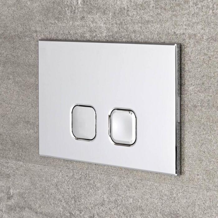 Placa de Accionamiento Cromada de 150x230mm para WC con Cisternas Empotrable - Cluo