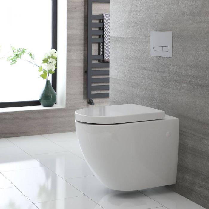 Conjunto de WC Completo con Kit para Inodoro Blanco de 500mm e Inodoro sin Brida Milton - Saru
