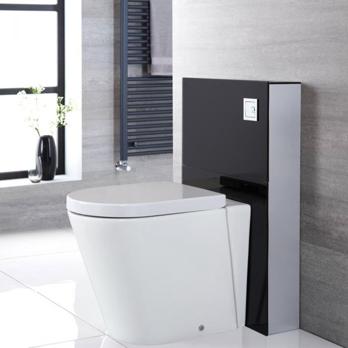 Kit para Inodoro Adosado Negro de 500mm Completo con Inodoro WC - Saru