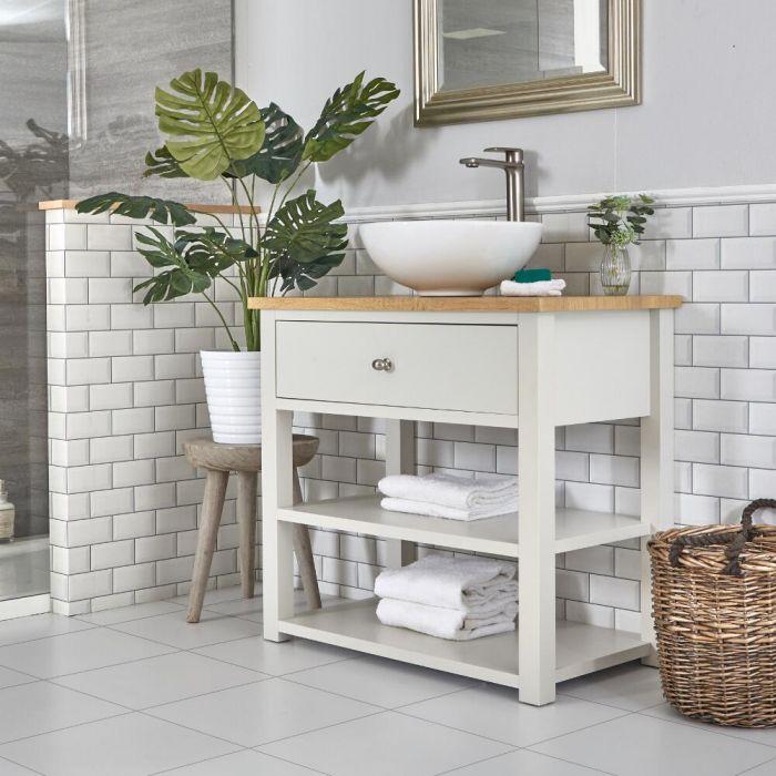 Mueble para Lavabo Tradicional de 840mm Color Blanco Antiguo - Stratford