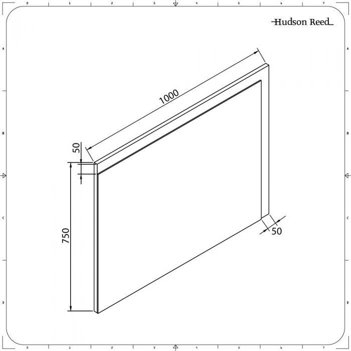 Espejo de 750x1000mm para Cuarto de Baño Roble Oscuro - Hoxton