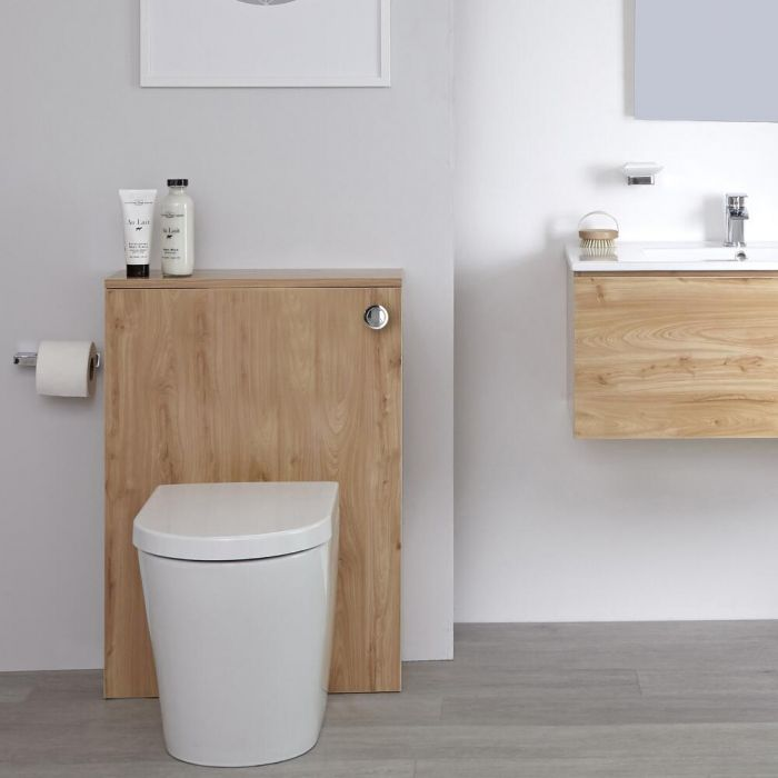 Mueble de Baño de 600mm Color Roble Dorado para Inodoro - Newington
