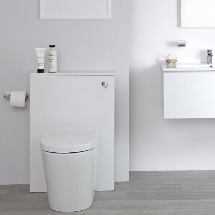 Mueble de Baño de 600mm Color Blanco Opaco para  Inodoro - Newington