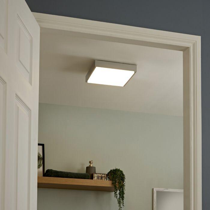 Plafón de Techo LED Cuadrado para Cuarto de Baño Ø290 - Zell